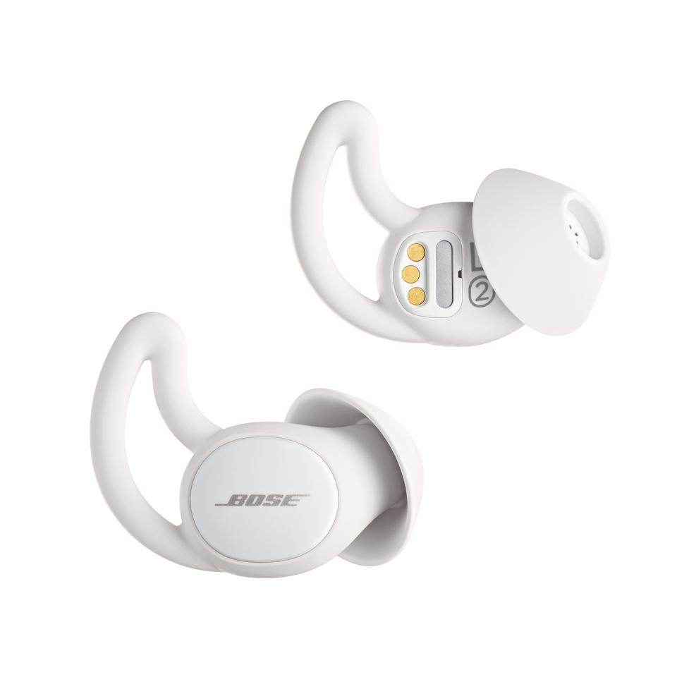 The soft silicone buds offer some passive isolation, while soothing sounds are streamed from a Bluetooth-connected smartphone or tablet to help wearers get a good night's sleep
