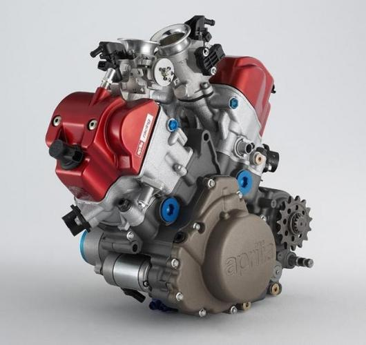 Aprilia's 450cc V-twin spins to 14,000rpm and produces 70+ horsepower. A 20% capacity increase to 550cc should take power to around the 85 horsepower mark.