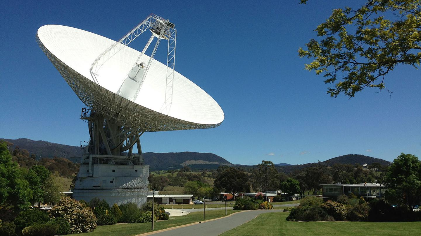 The Deep Space Network's radio antenna in Canberra, Australia