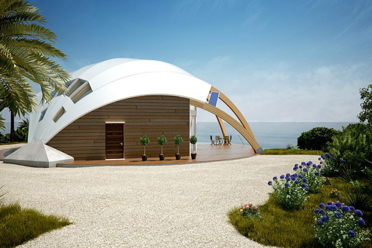 The Pearl passive solar house by David Fanchon