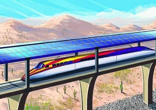 The solar bullet train could make the 116 mile journey from Tucson to Phoenix in just 30 minutes