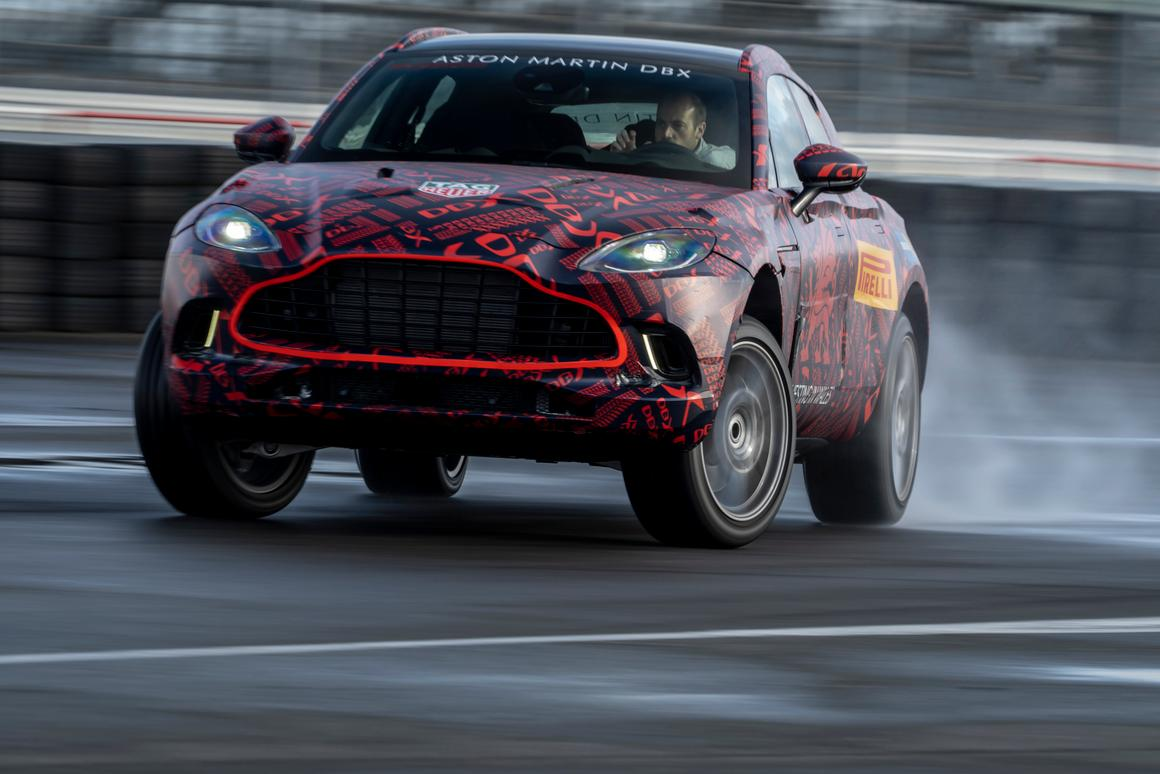 A roaring 542-hp V8 – the most powerful in the Aston Martin lineup – makes the DBX one seriously quick SUV