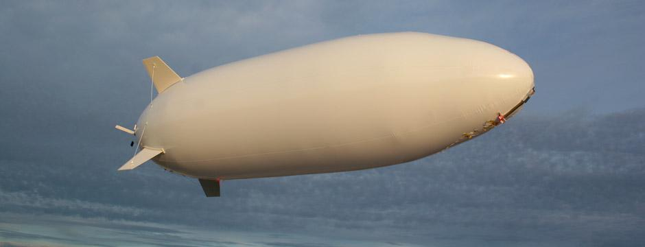 The Sky Sentinel is a small UAV airship that can remain aloft for 18 hours and provide silent surveillance of a wide area at altitudes up to 10,000 feet (3,048 meters)