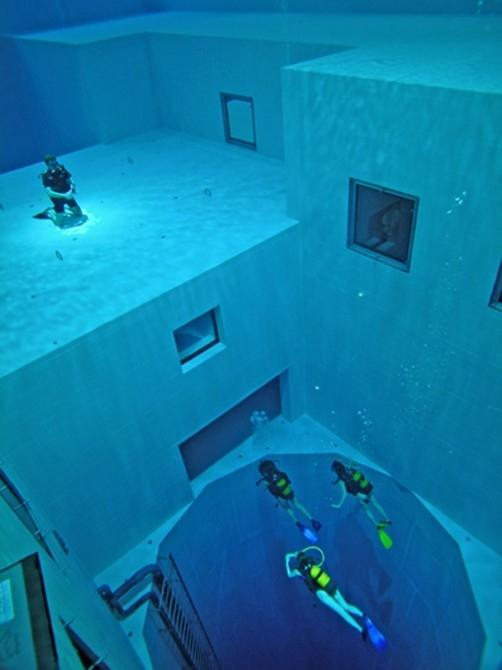 In too deep - Belgium's 100ft diving pool
