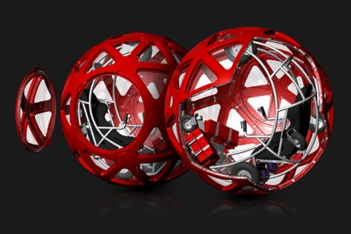 Fun is a giant plastic spherePhoto: Evento