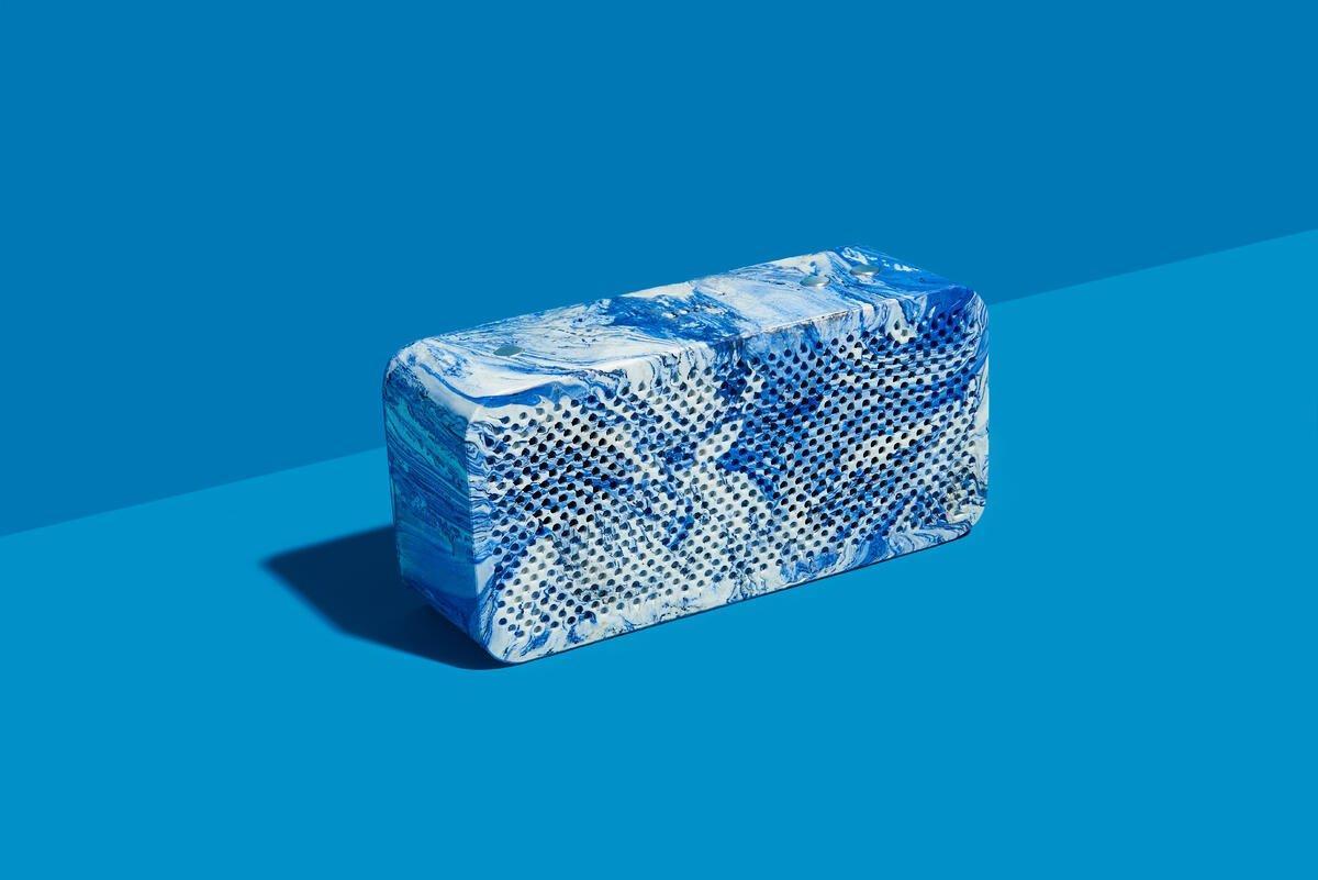 The Gomi speaker in blue