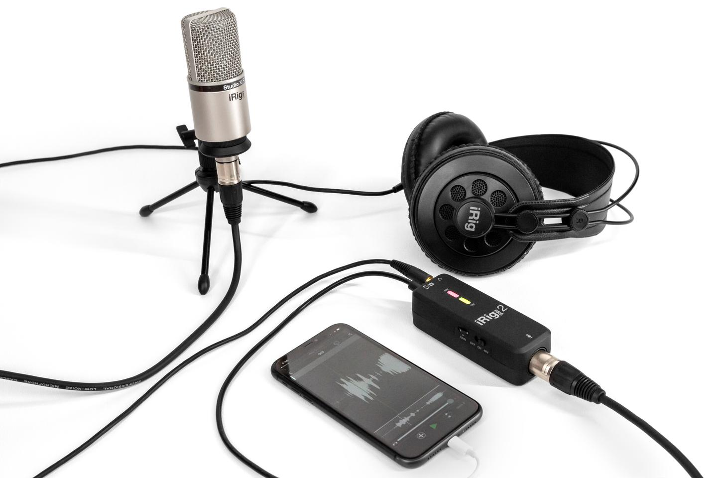 The iRig Pre 2 allows podcasters, vloggers and other content creators to use a XLR mic with mobile devices and digital cameras