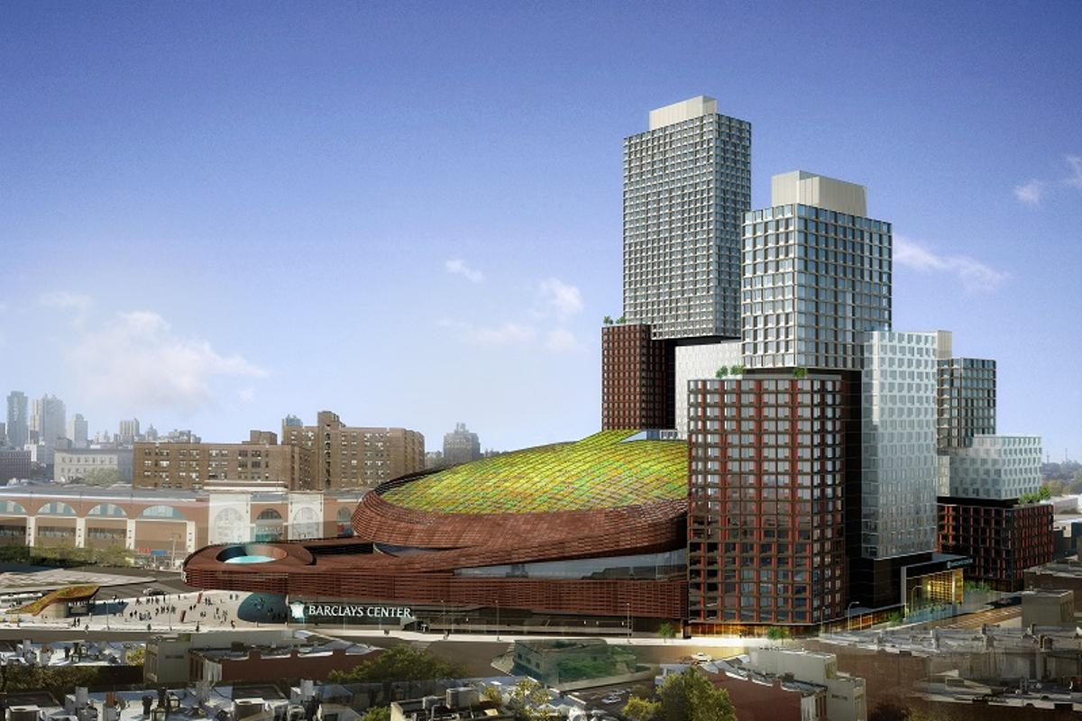 A green roof will be installed at the Barclays Center in Brooklyn (Image: Shop Architects)