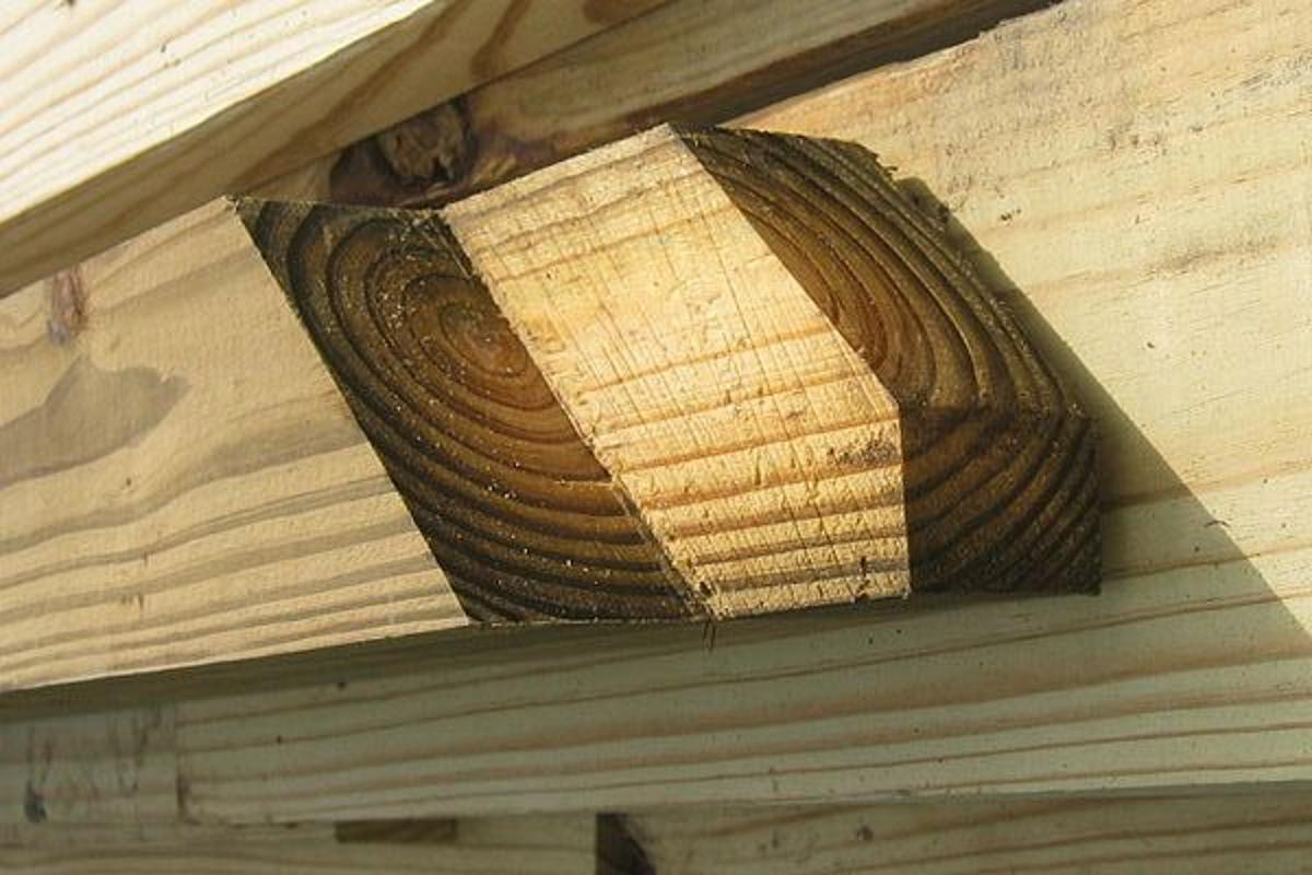 Pressure-treated lumber has been shown to leach much less preservatives, when treated using a newly-developed technology