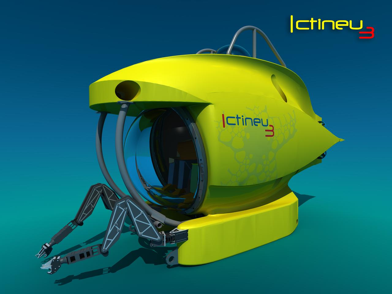 The ICTINEU 3 submersible comes with two robotic arms