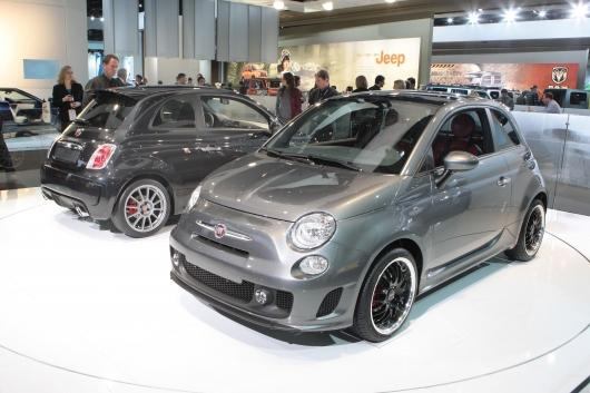 The Fiat 500EV, at the 2010 Detroit International Motor Show