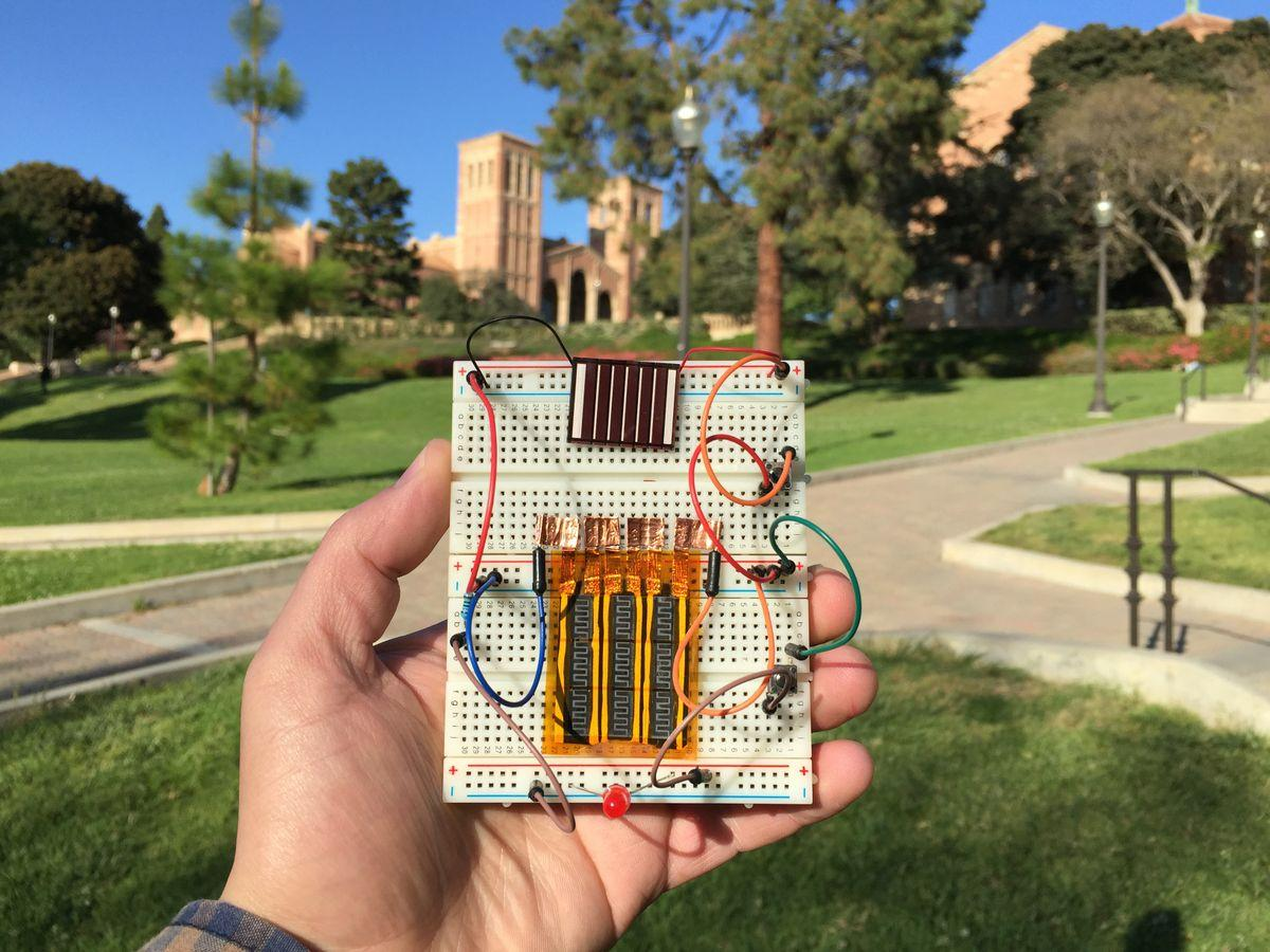 A hybrid supercapacitor combines high power and energy density (Photo: UCLA)