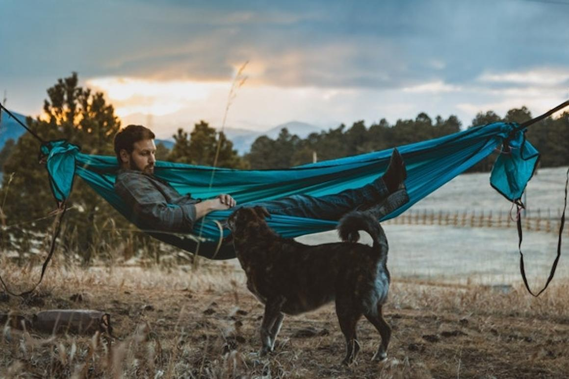The Walden hammock is designed to transform into several types of shelter