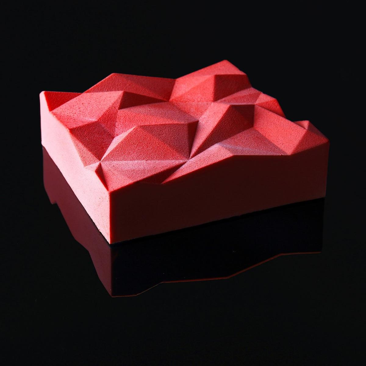 These 3D-printed cake moulds offer strange and geometric edible delights