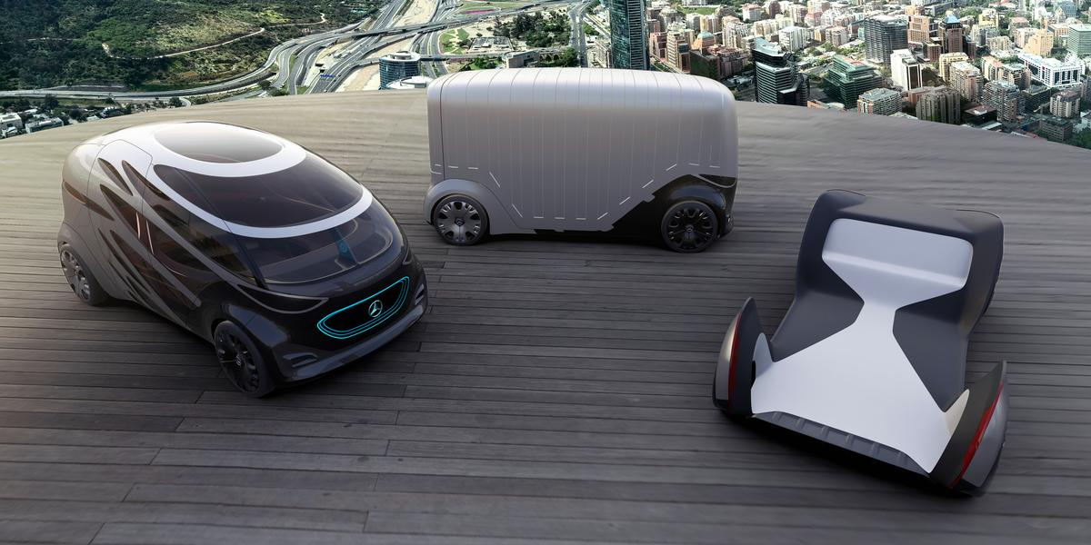 The Mercedes-Benz Vans Vision Urbaneticand its modules