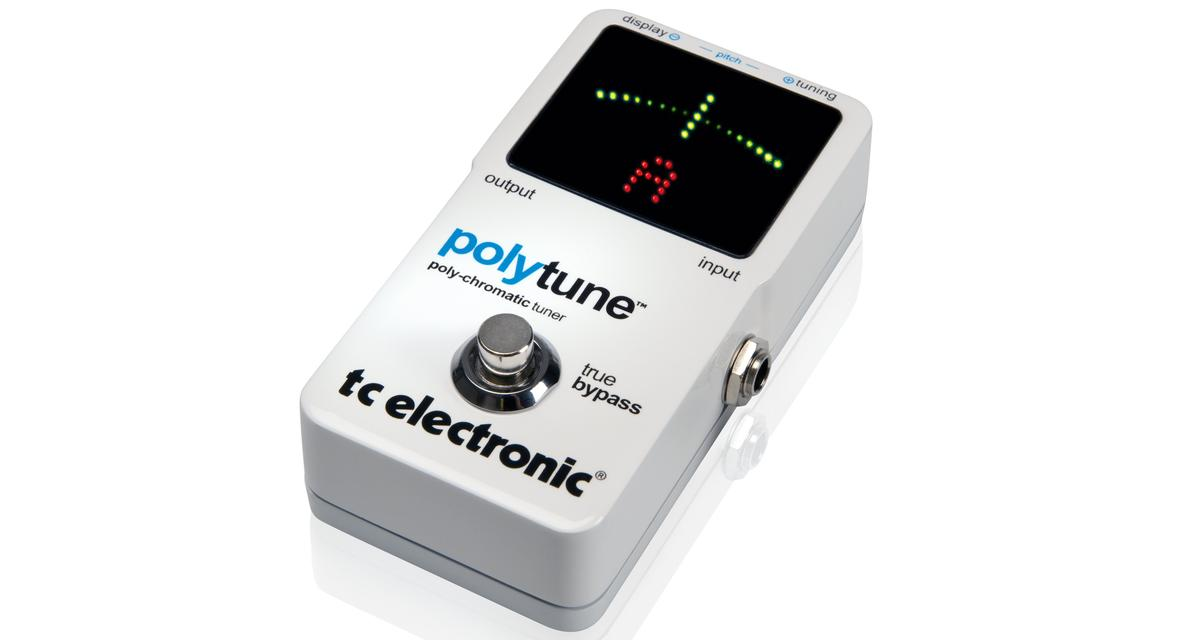 TC Electronic's Polytune offers either a standard chromatic tuner or a polyphonic tuner which will examine the tuning needs of all strings at the same time