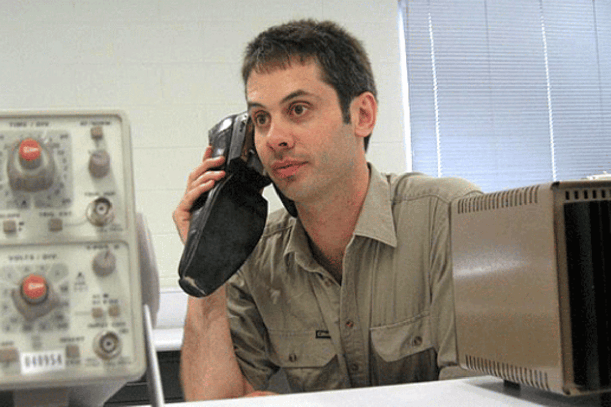 Paul Gardner-Stephen and his Shoe Phone