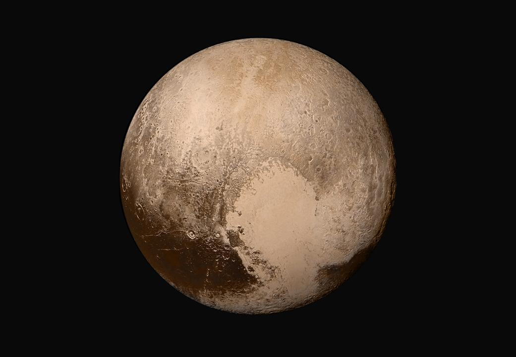 True color mosaic image of Pluto