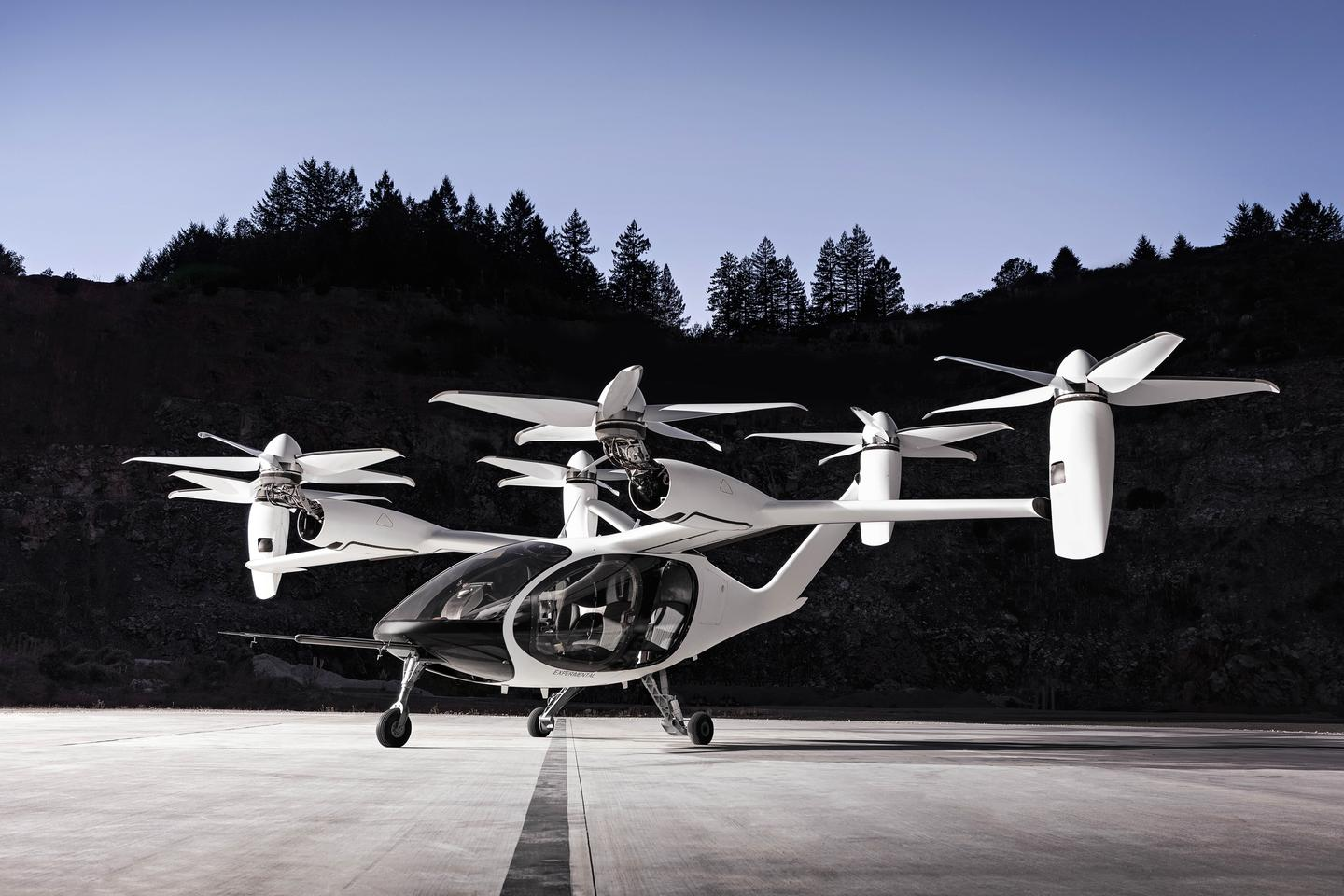Joby Aviation has built and flight-tested its five-seat, six-rotor eVTOL air taxi