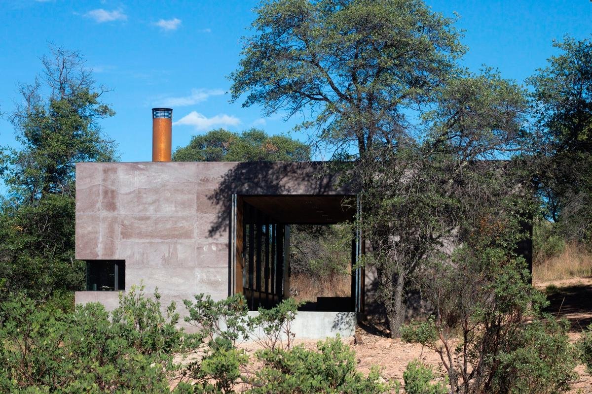 Casa Caldera is passively cooled and operates totally off-the-grid