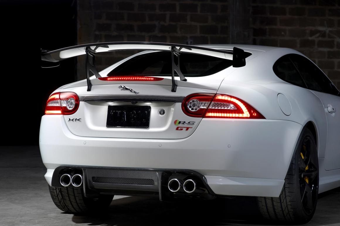 A not so subtle rear wing comes standard