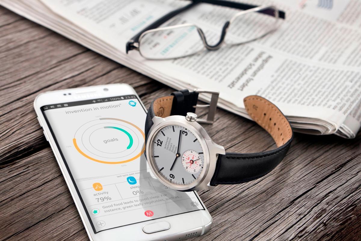 Mondaine's Helvetica 1 smartwatch tracks activity and sleep data