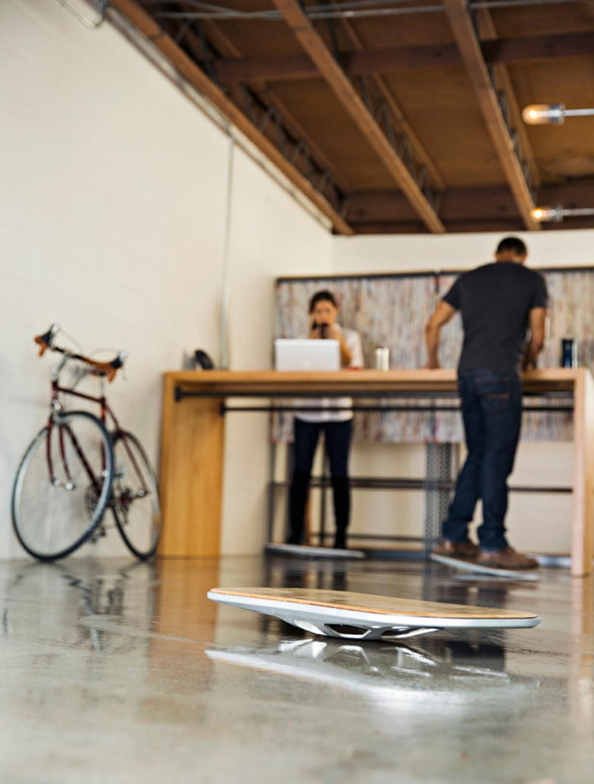 Standing on the Level board is claimed to require a similar amount of leg motion to walking for those working at a standing desk