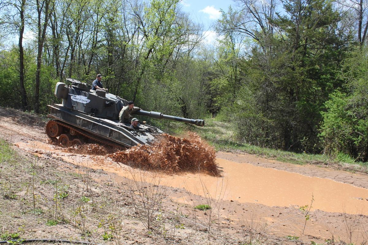 Our tank driving adventure started out small, relatively speaking, with this Abbot FV433 SPG