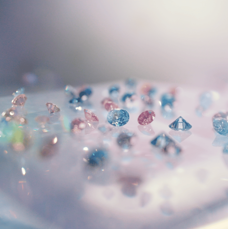 Lab-grown diamonds - indistinguishable from the real thing, provided you don't make them pretty colours, inscribe them with special logos, or carry a spectrometer around with you