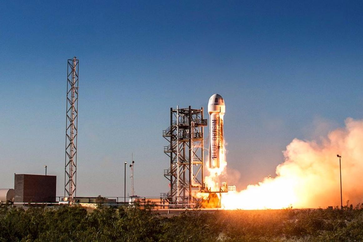 Blue Origin's first launch was in West Texas earlier this year