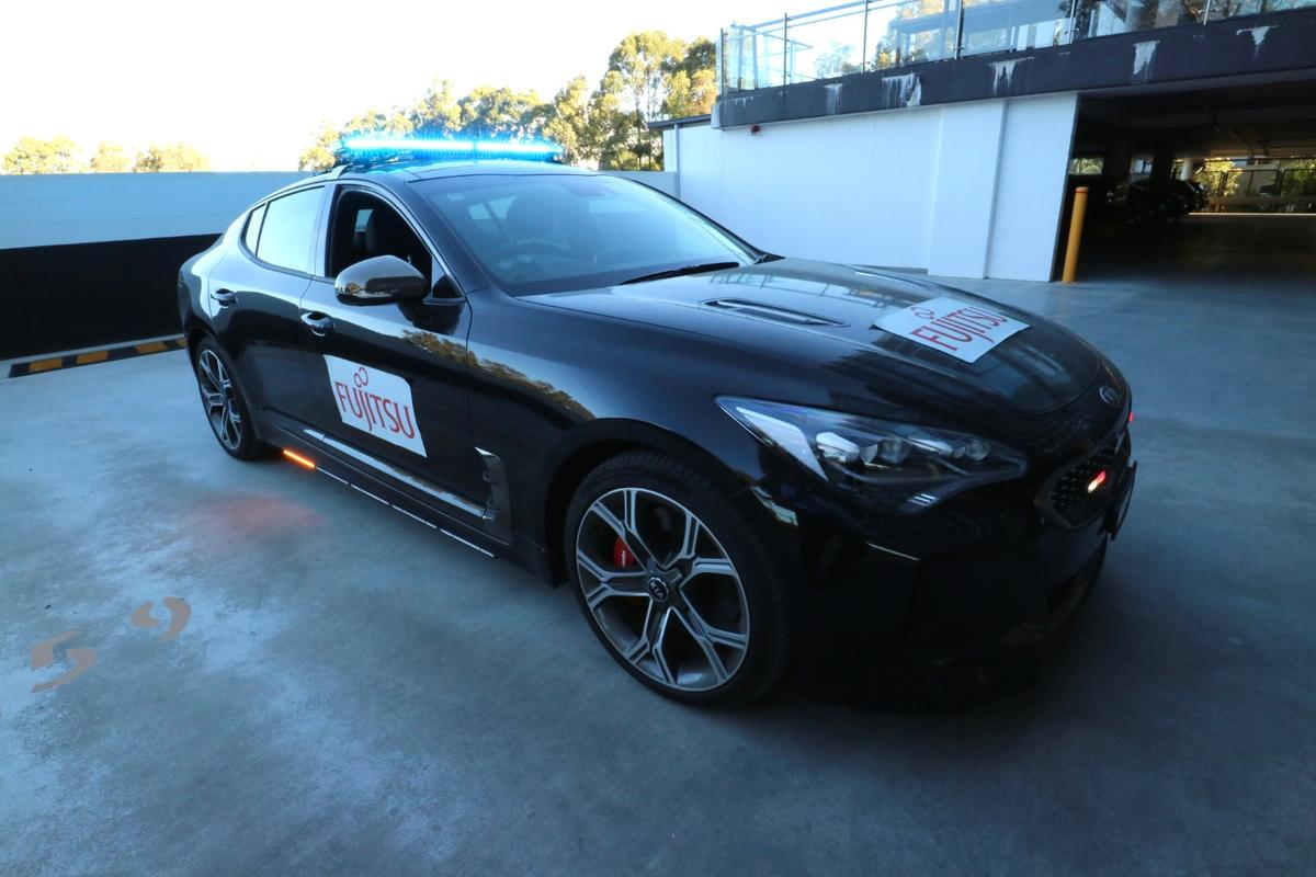 The system has been installed in a Kia Stinger, which isalreadyused by Australian police forces