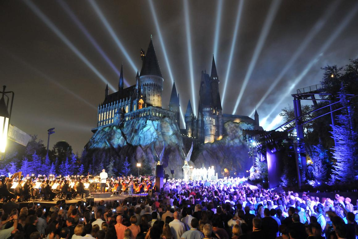 The grand opening celebration at The Wizarding World of Harry Potter at Universal Orlando Resort