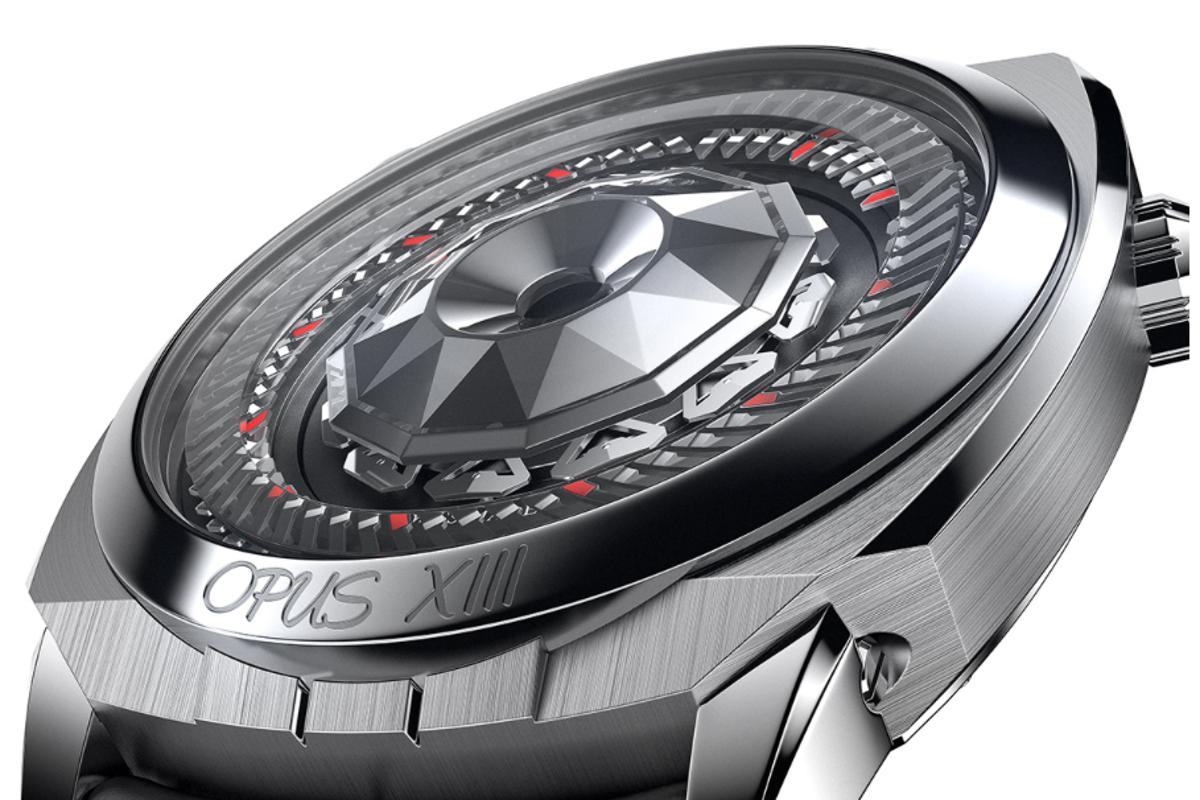 "The Harry Winston Opus XIII features 59 minute hands, 11 hour hands and a concealed ""HW"""