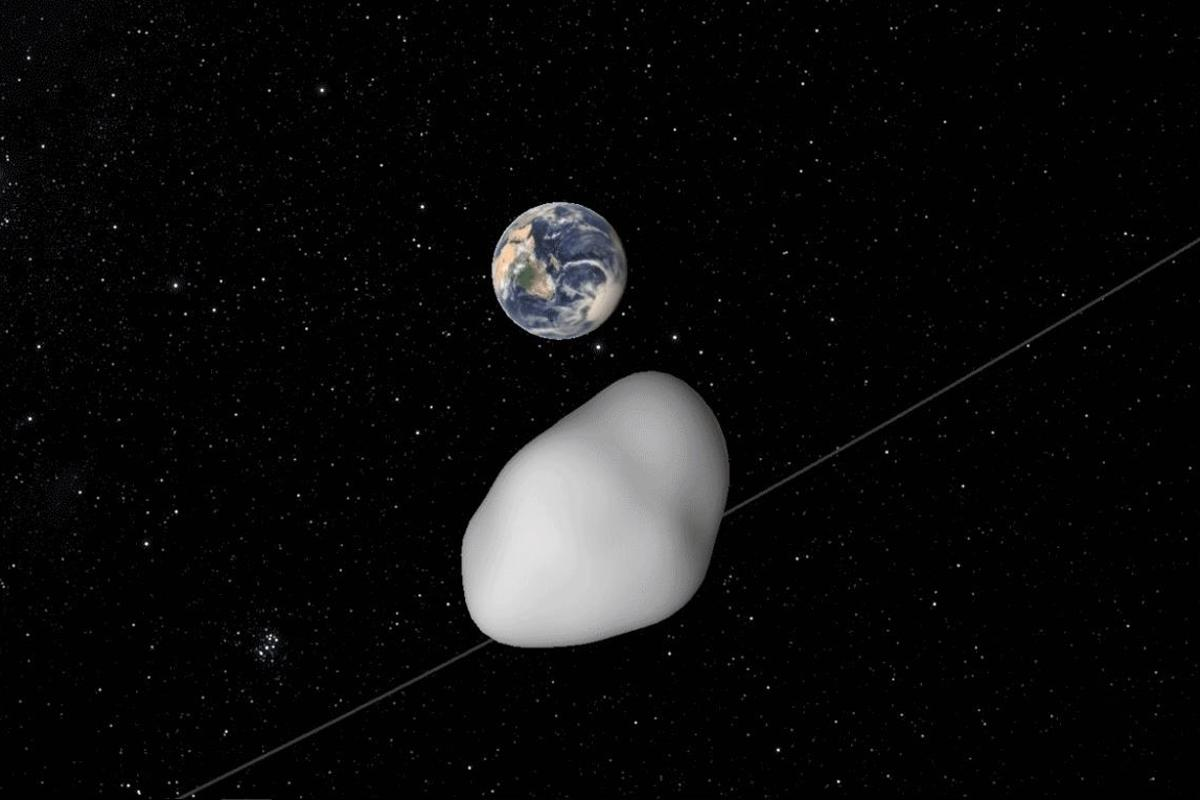 On October 12, asteroid 2012 TC4 passed by Earth at a distance of approximately 26,000 mi (42,000 km)