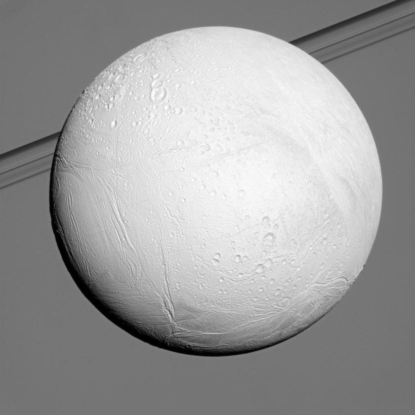 Northern terrain of Enceladus