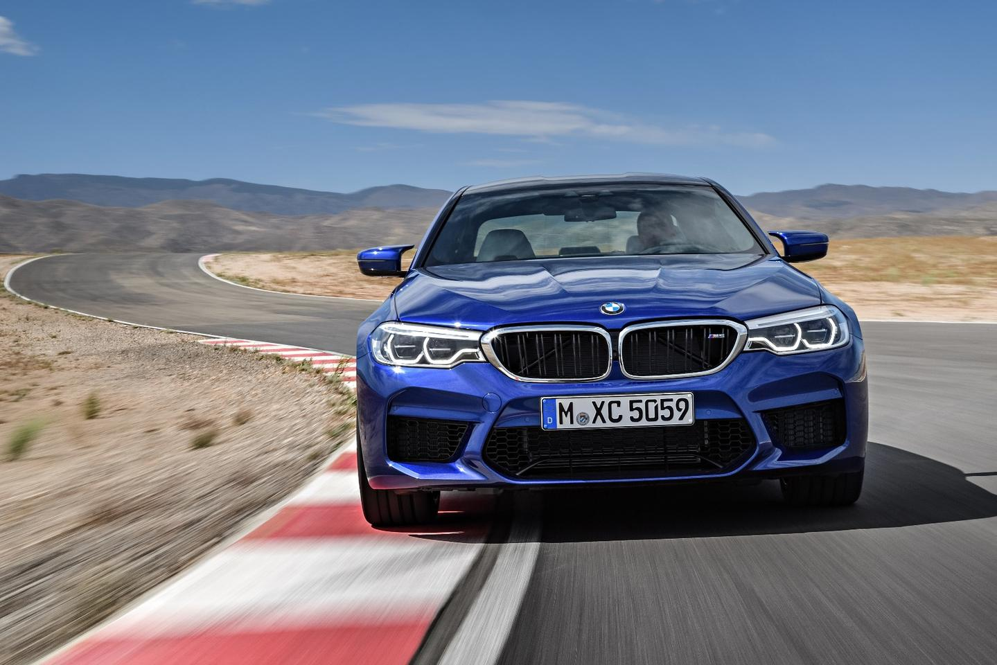 The new M5 is powered by a twin-turbo V8 making 600 hp