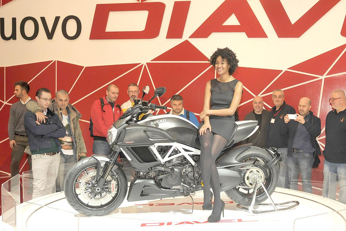 The Diavel was a surprise unveiling at last week's Geneva Motor Show
