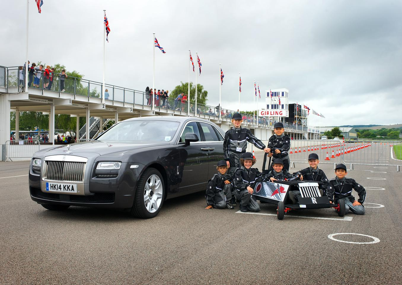 Rolls-Royce helped the local March CE Primary School compete in the Greenpower event