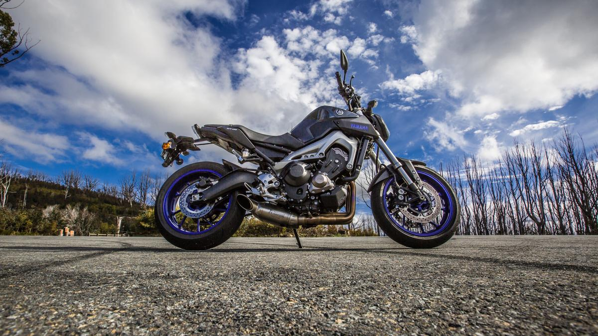 Yamaha's MT-09 (or FZ-09 in the USA) provides ridiculous levels of fun in real-world riding (Photo: Loz Blain)