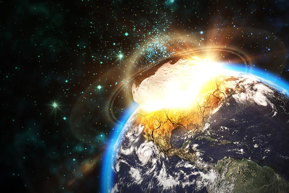 A swarm of laser-wielding satellites could be used to nudge an asteroid off a collision course with Earth (Image: Shutterstock)