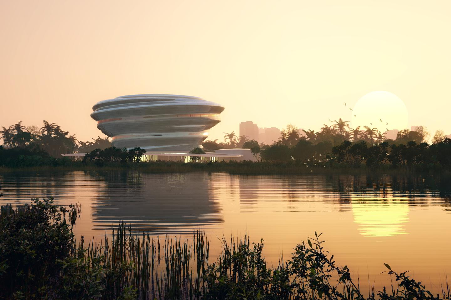 The Hainan Science and Technology Museum is slated to be completed in 2024