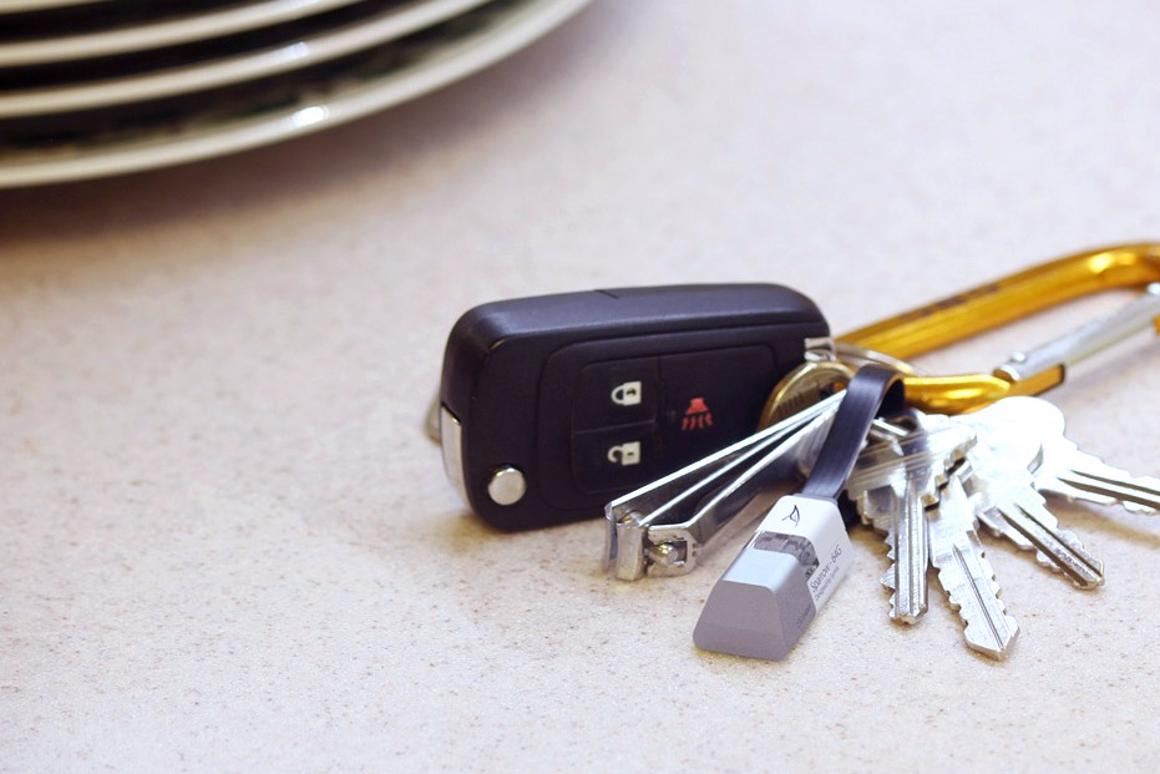 Sparrow is able to serve as both USB charger and flash drive – and can live on your key chain
