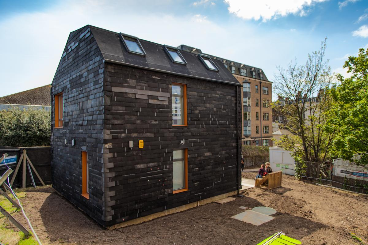 The Waste House constructed a the University Of Brighton employs waste materials sourced from domestic and construction sites (Photo: BBM)