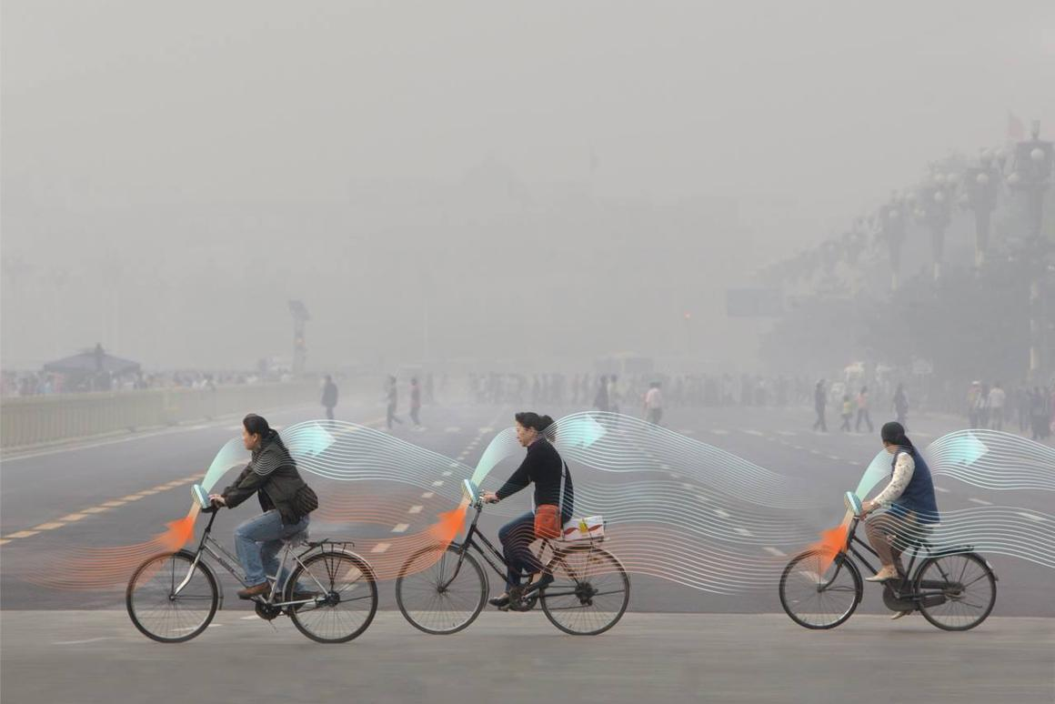 The Smog Free Bicycle is also intended to tap into the growing popularity of bike-share programs in China