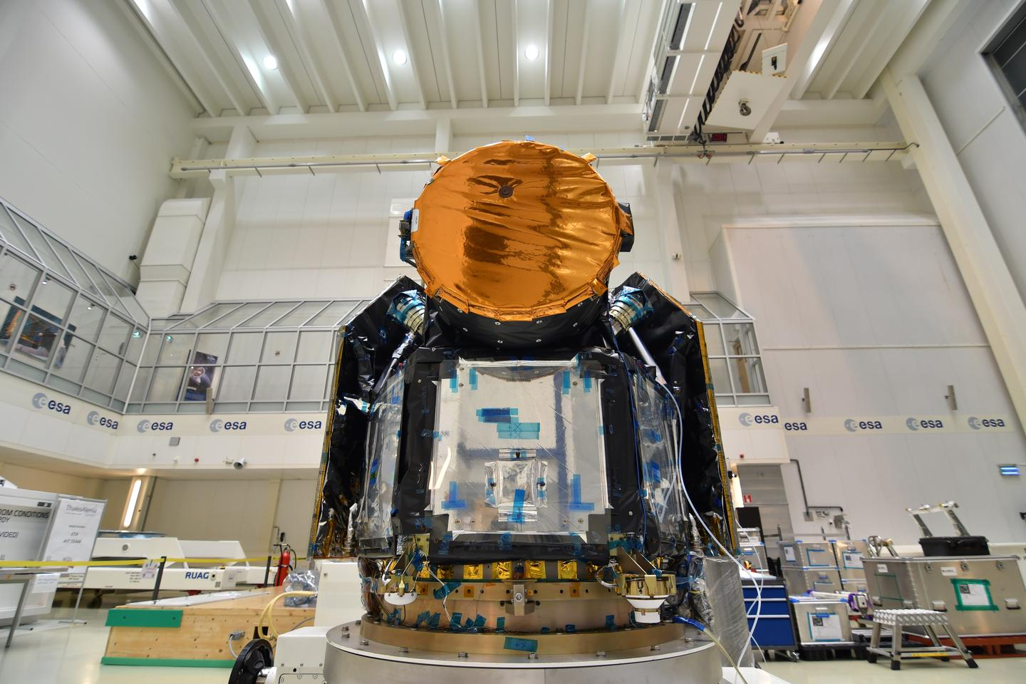The CHaracterising ExOPlanets Satellite (CHEOPS) at ESA's technical center