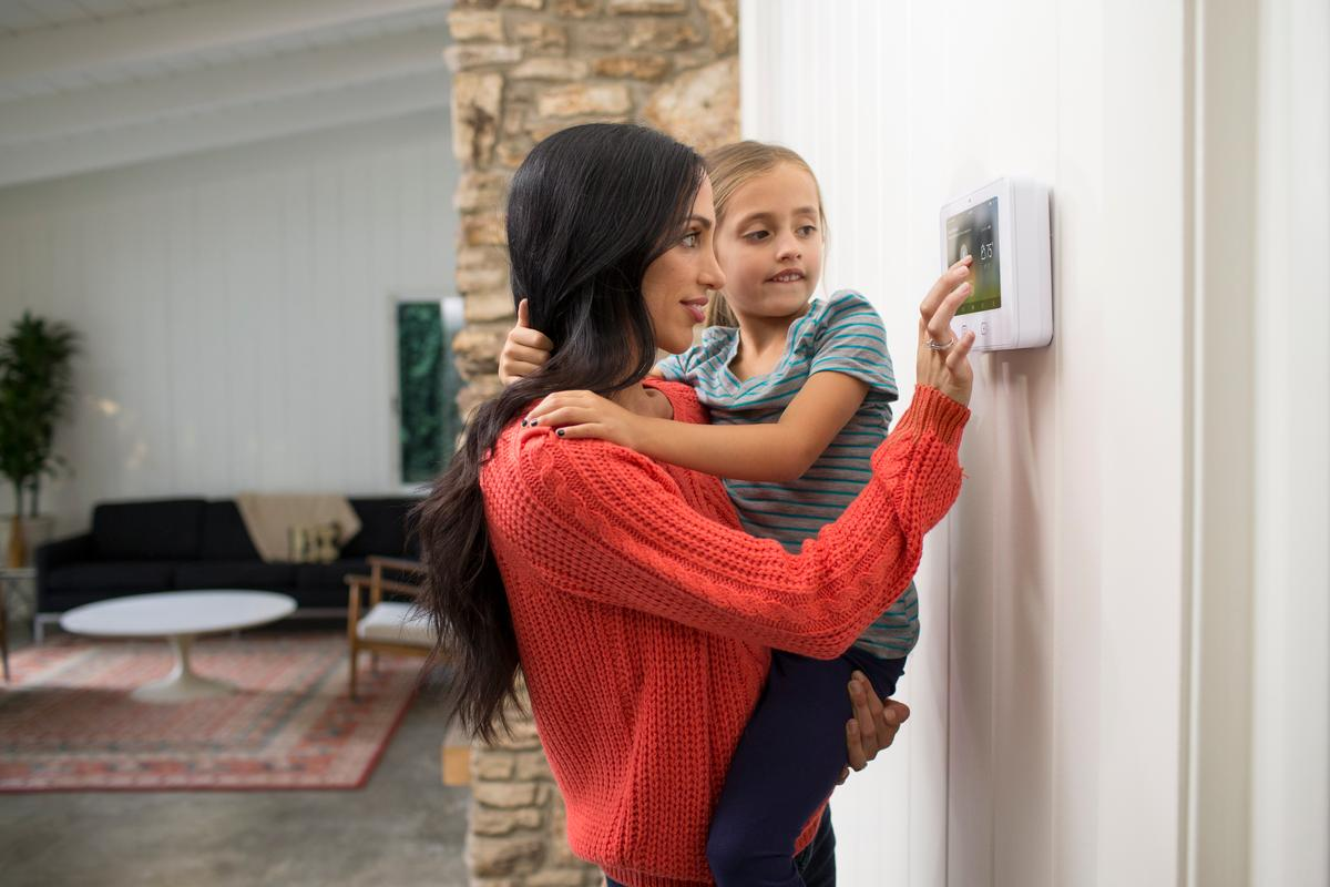 The Vivint Sky home automation system is centered on a 7-inch display and uses data analytics to learn about the user's lifestyle