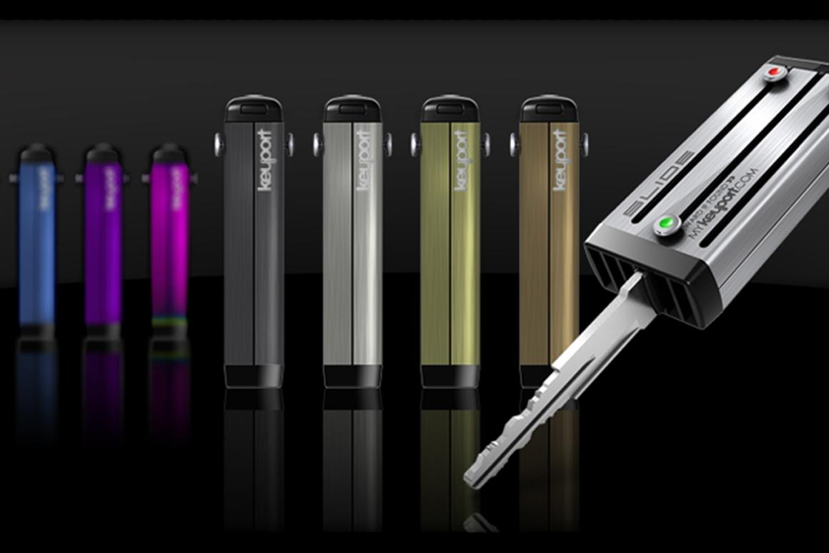 The Keyport consolidates six keys or a mix of keys and USB flash drive, mini-torch and bottle opener in one streamlined device