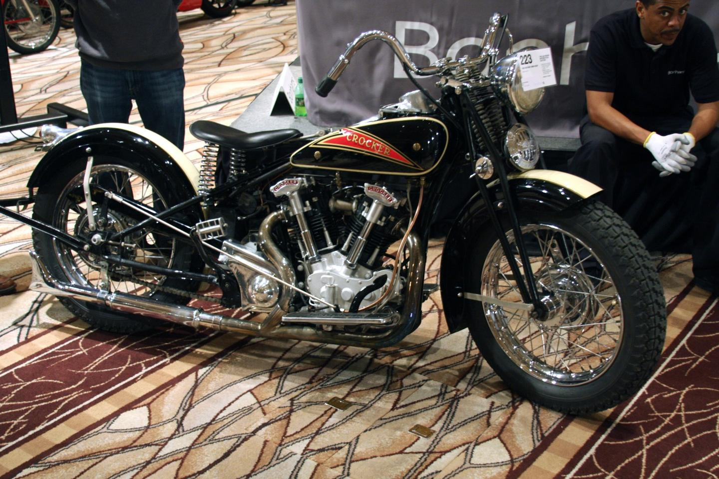 Great things were expected at Bonhams of the aboveCrocker. The 1936 Crocker 'hemi head' was expected to fetch between $500,000 and $600,000. Bidding started at $150,000 and reached $360,000 before failing to advance any further.
