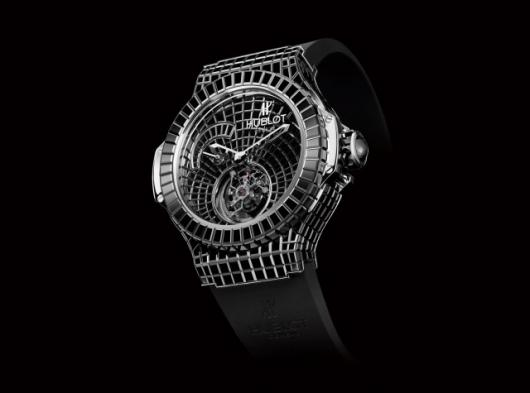 It's not surprising that Hublot should seek to authenticate its watches - the ONE MILLION $ BLACK CAVIAR BANG has an 18K white gold case set with 322 black diamond baguettes and a white gold dial set with a further 179 black diamonds. Imagine finding out