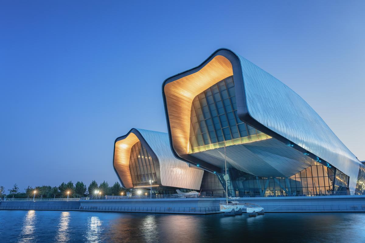 The National Maritime Museum of China gets some power from a roof-based solar panel array